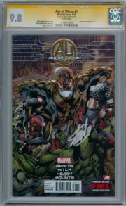 Age Of Ultron #1 First Print CGC 9.8 Signature Series Signed Stan Lee Avengers Movie Marvel comic book